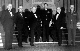 King George VI and Commonwealth Prime Ministers, including John Curtin and Winston Churchill